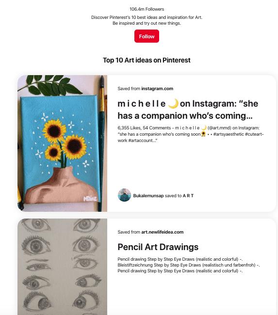 Art topics on Pinterest