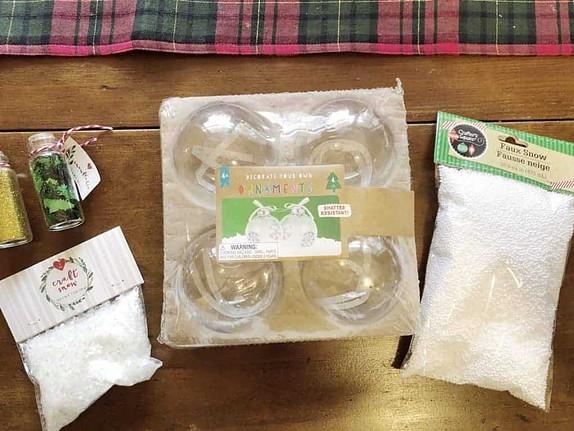 diy ball ornaments supplies