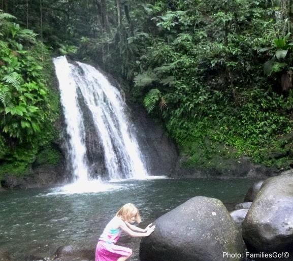 Guadeloupe has waterfalls