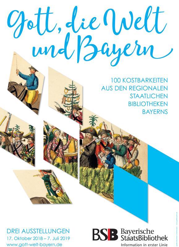 """Plakat zur Ausstellung """"Gott, die Welt und Bayern"""""""