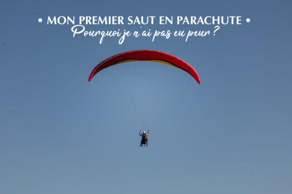 Ma première chute libre en tandem, parachute