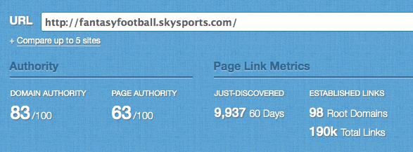 fantasy football links