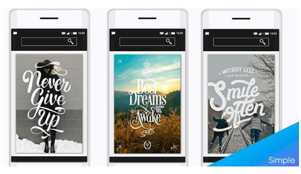 Программа на платформе Android в Play Market с коллекцией модных шрифтов