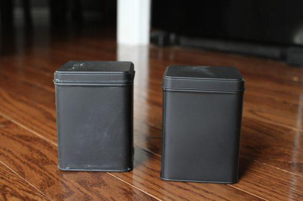 seasoned chalkboard tea tin