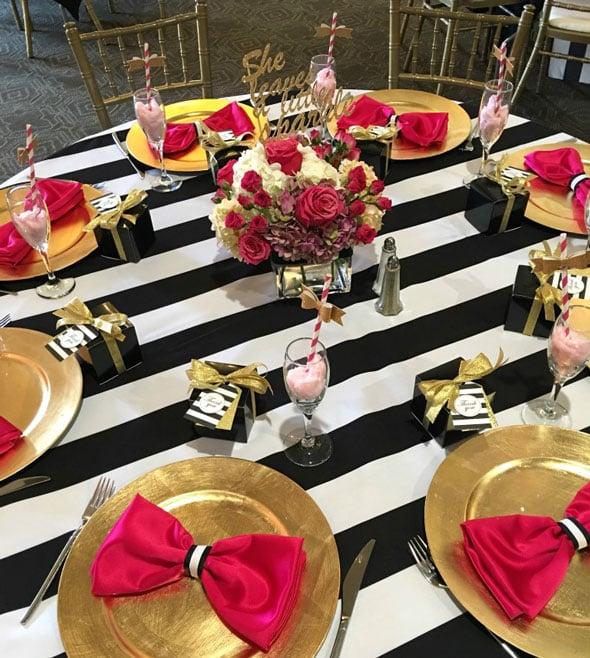 Kate Spade Birthday Celebration Table Idea via Pretty My Party