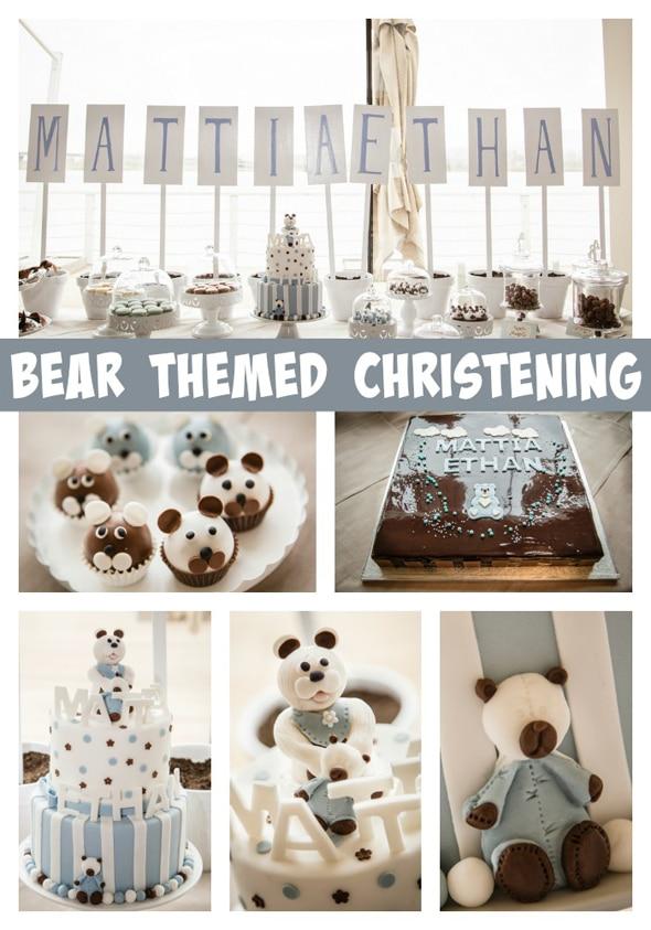 bear-theme-christening-ideas
