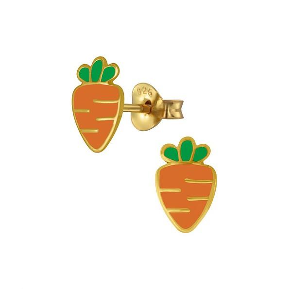 Wholesale Silver Carrot Stud Earrings