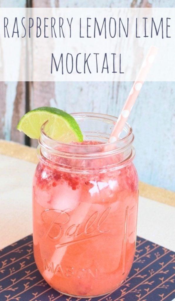 Raspberry Lemon Lime Mocktail via Pretty My Party