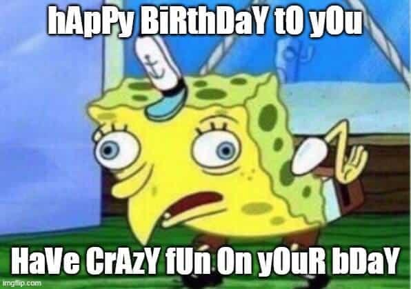 spongebob birthday meme