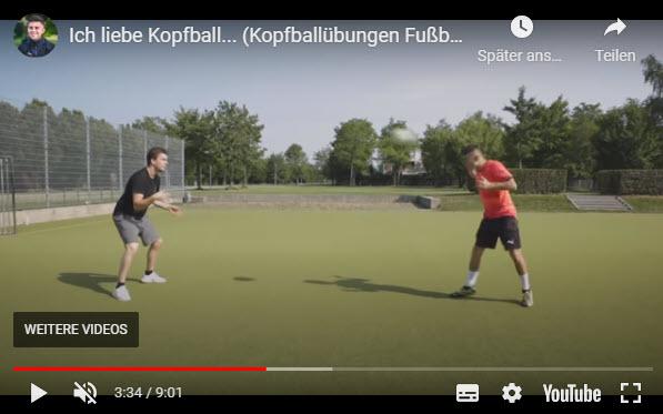 KOPFBALLÜBUNGEN FUSSBALL mit Hardi Höß