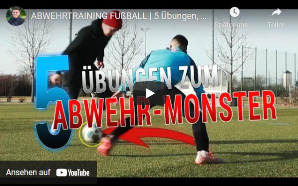 5 Übungen zum Abwehrmonster im Fußball mit Hardi Höß