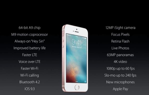 iPhone SE Daten