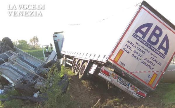 Incidente stradale mortale a Chioggia questa mattina