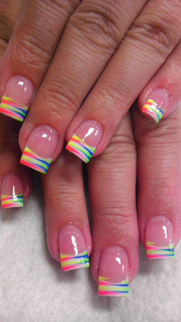 unas-acrilicas-manicura-francesa-colores