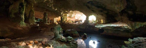 Conch bar caves in turks & caicos.