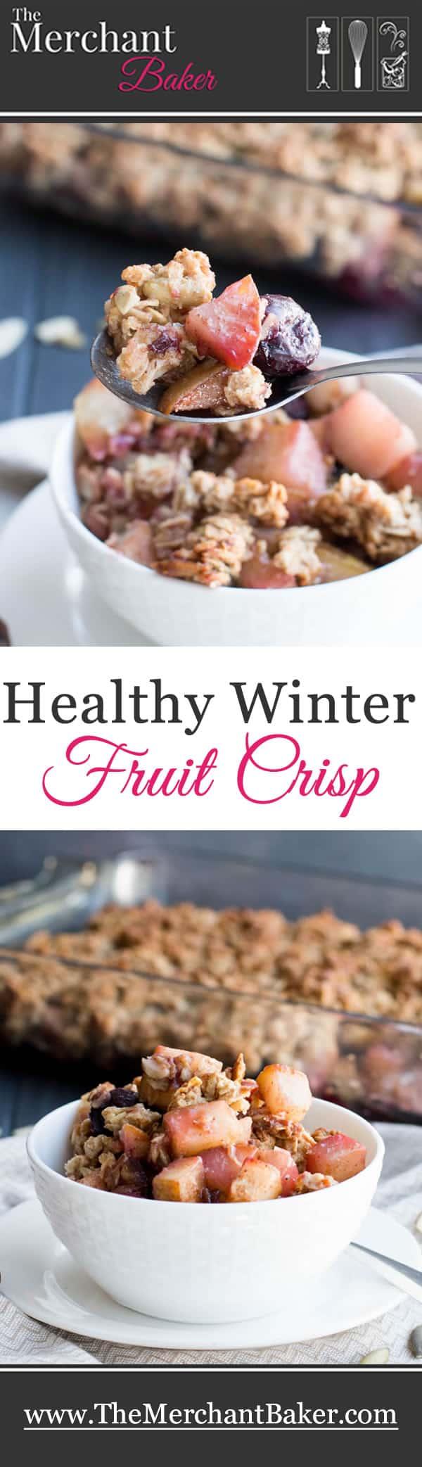 Healthy Winter Fruit Crisp