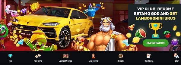 Win a car at Betamo Casino!