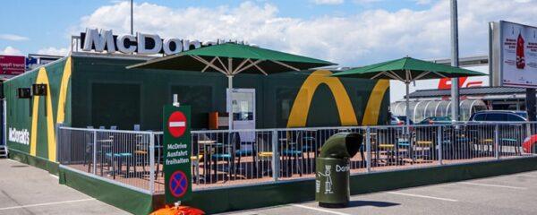 Erstes McDonald's Pop-Up-Restaurant errichtet