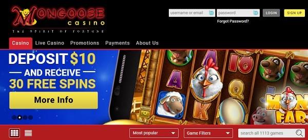 30 free spins bonus on $10 deposit
