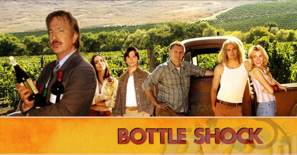 Bottle shock takes viewers to napa valley in the 1970s, when its wine industry was nascent.