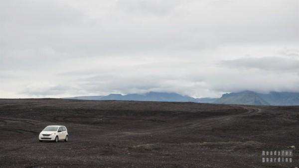 Droga do wraku samolotu - Islandia