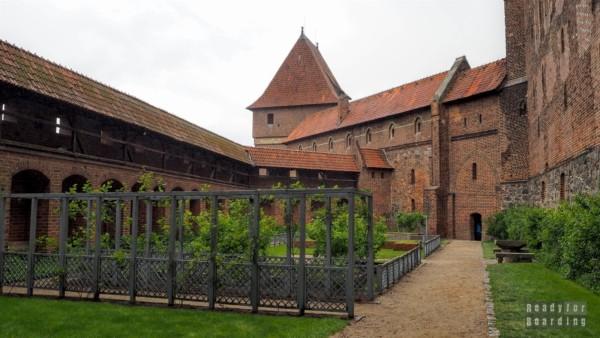 Malbork - Taras południowy, ogród
