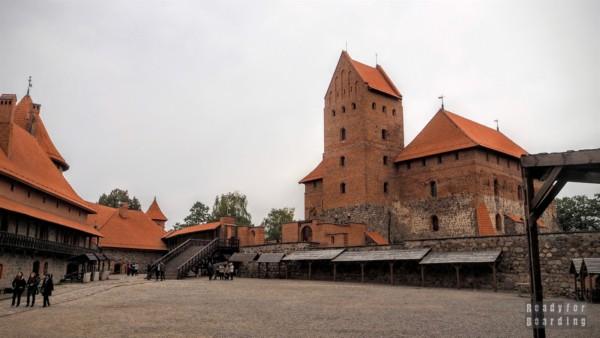 Dziedziniec, Zamek w Trokach - Litwa