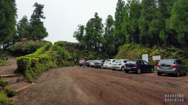 Droga na punkt widokowy na krater wulkanu, Azory