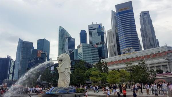 Merlion Park, Marina Bay - Singapur
