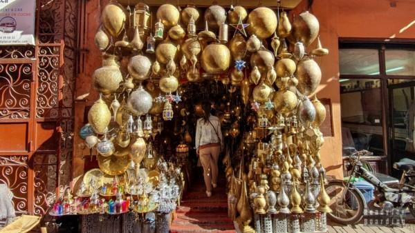 Marokańskie lampy - Marrakesz