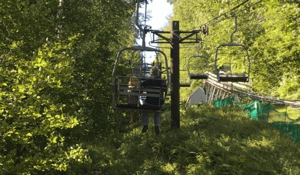 The ski lift to the alpine slide at jiminy peak