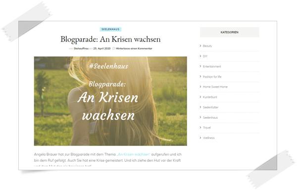 Blogparade: An Krisen wachsen