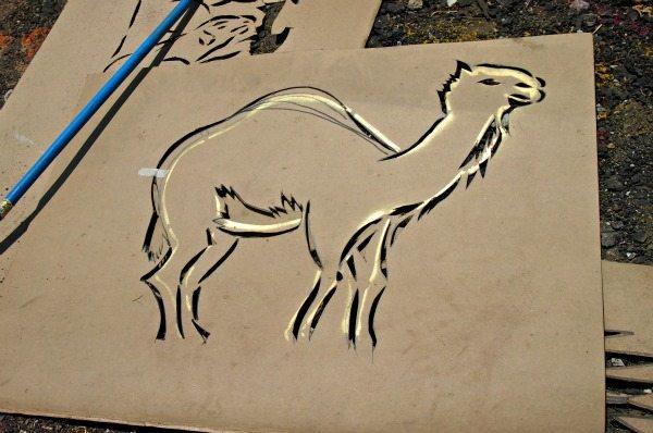 Stencil used in making sawdust carpets in Antigua Guatemala