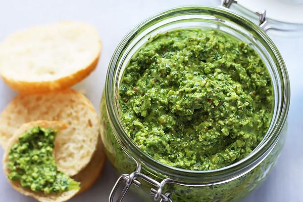 Spinach Pesto in Jar
