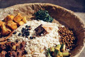 A plate of Newari Khaja- Nepalese food