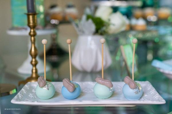 Elephant Themed Baby Shower Cake Pops