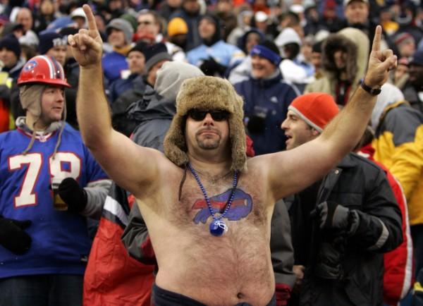 Shirtless Buffalo Bills Fan