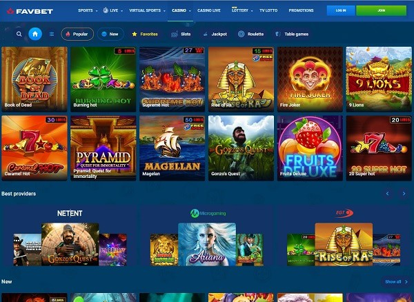FavBet Casino | 100% bonus, free spins, and risk-free bets | Review