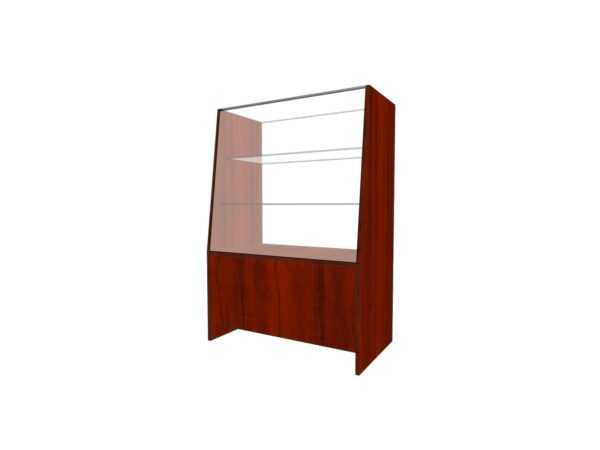 Прилавок для магазина 900*500*1300мм 2 полки стекло