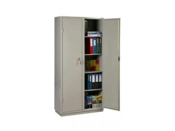 Бухгалтерский шкаф металлический серый КБ-10
