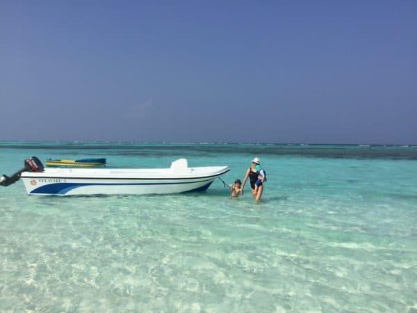 Enjoying the beach on a Maldives family holiday