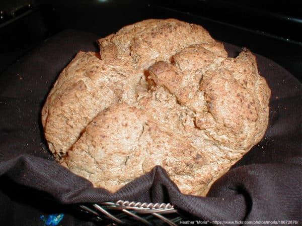 Irish brown bread is a healthy quick bread