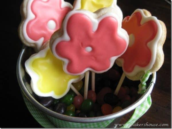 Flower cookie bouquet