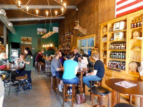 Taconic distillery's cozy tasting room