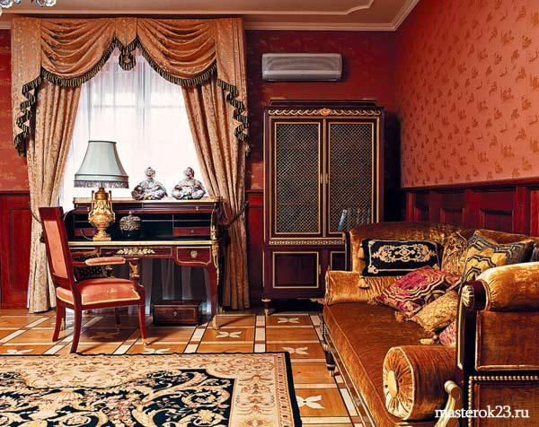 Стиль гостиной в Английском стиле