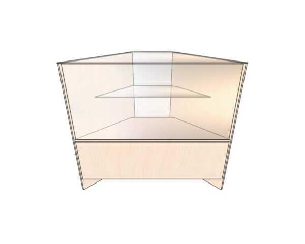 Прилавок угловой остекленный со стеклянной полкой