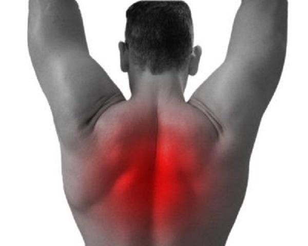 Lesión espalda remo-barra-T