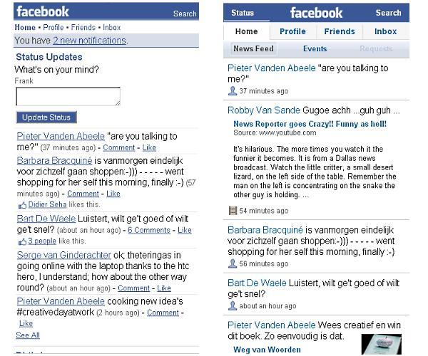 facebook faceoff: home