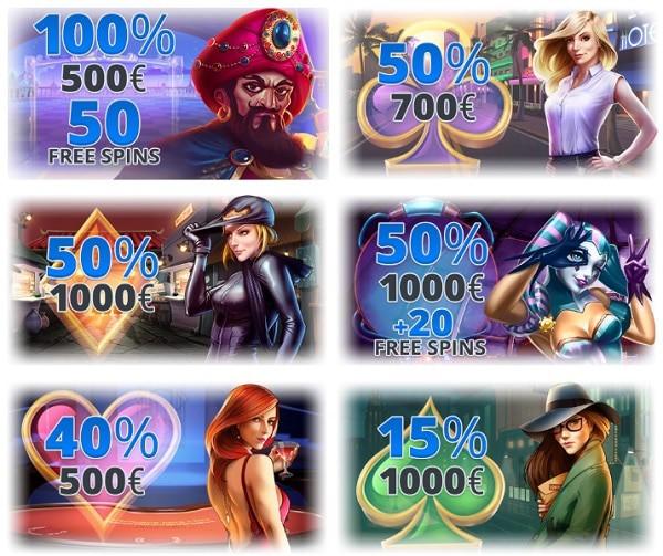 EgoCasino.com bonuses, promotions, free spins