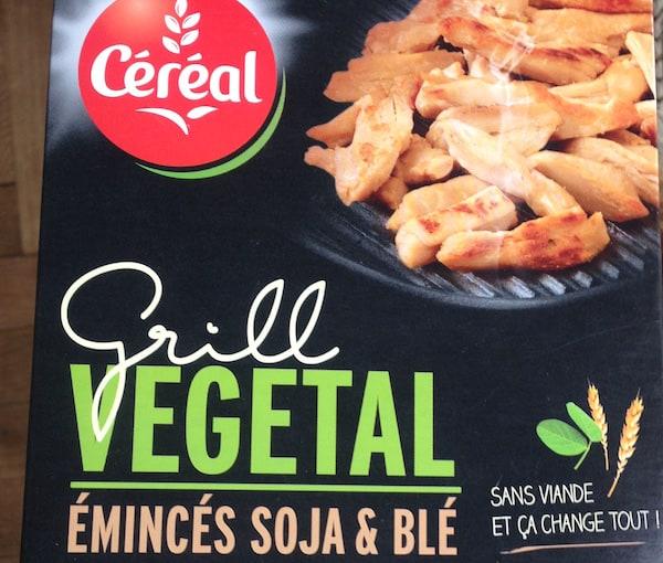 Grill végétal Céréal émincés soja et blé